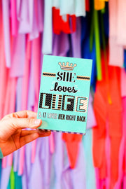 Happy Quote Box - She Loves Life - Packs of 4