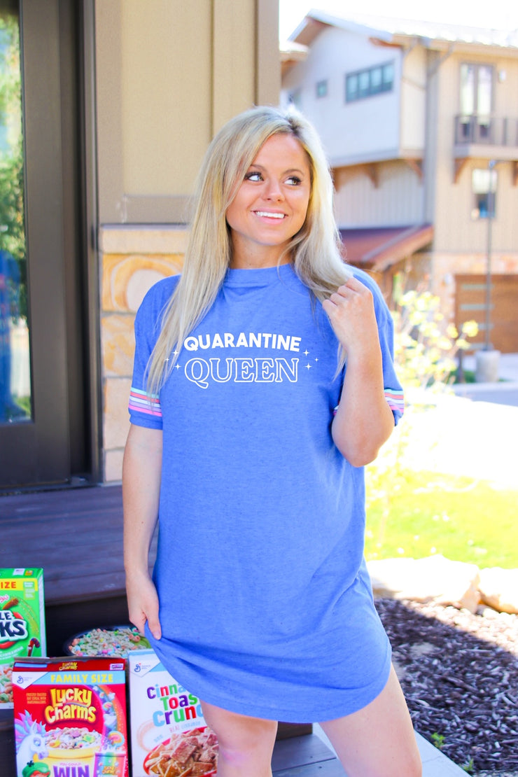 Quarantine Queen (Flo Blue Funfetti) - Sleep Shirt - Pack of 4