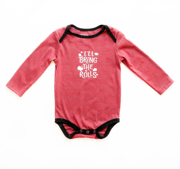 I'll Bring The Rolls (Wine Heather) - Onesie Pre Pack