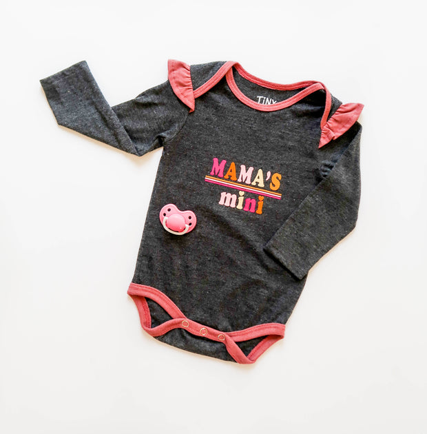 Mama's Mini (Charcoal Heather) - Onesie Pre Pack