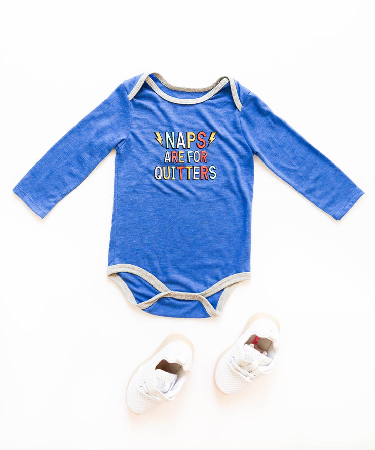 Naps Are For Quitters (Flo Blue Funfetti) - Onesie Pre Pack