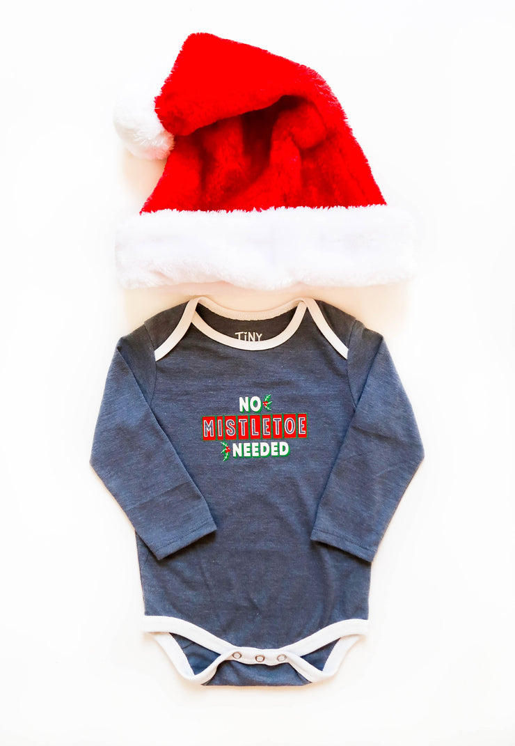 No Mistletoe Needed (Blue Jean Heather) - Onesie Pre Pack
