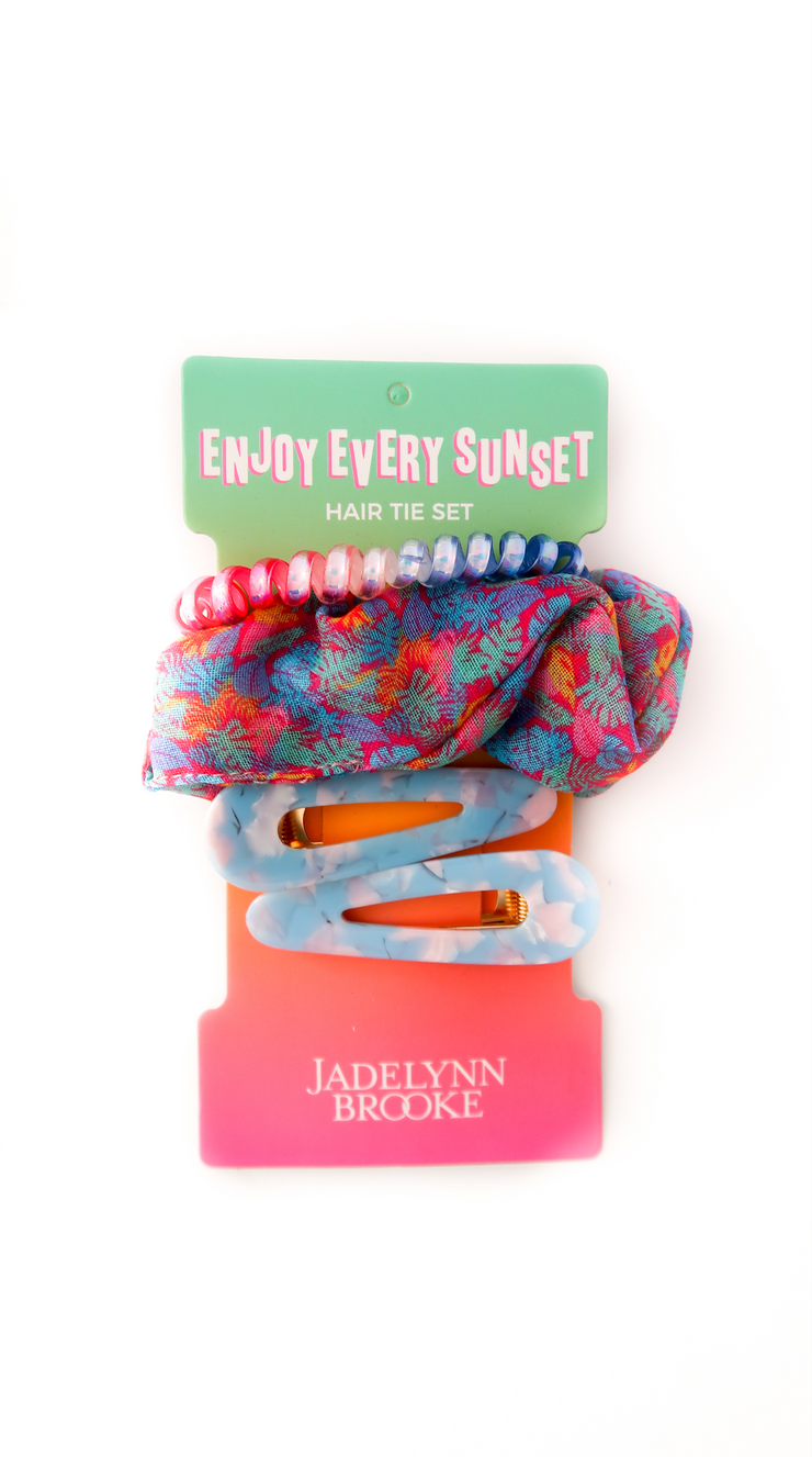 Hair Set - Enjoy Every Sunset (Gradient Rainbow) PACK OF 4
