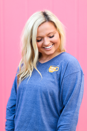 What A Girl Wants (Blue Jean Heather) - Long Sleeve / V-Neck