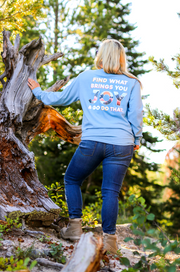 Find What Brings You Joy (Dynamic Blue Heather) - Long Sleeve / V-Neck
