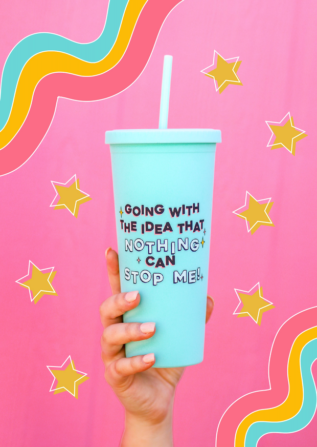 Matte Tumbler 22 oz (Mint) - Nothing Can Stop Me - Packs of 4