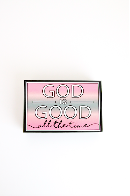 Happy Quote Box - God Is Good (Grey) - Packs of 4