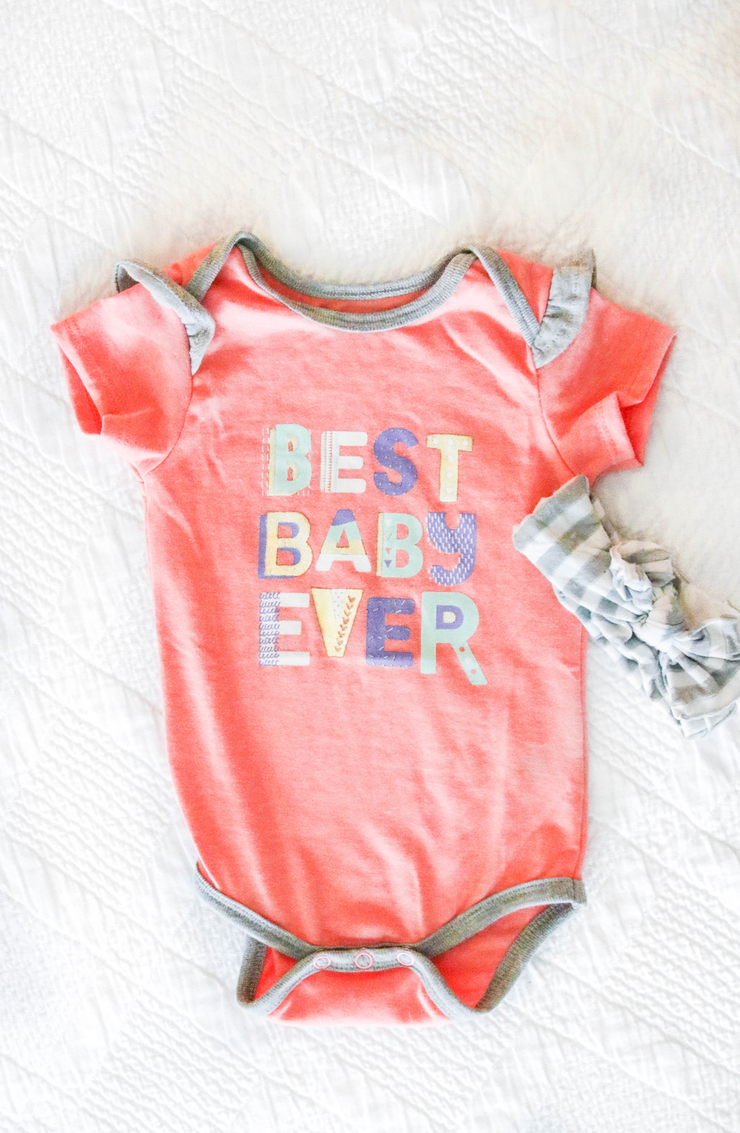 Tiny Tinies - Best Baby Ever (Coral Heather) - Onesie Pre Pack