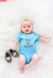 Tiny Tinies - Tiny & Mighty (Lagoon Blue Heather) - Onesie Pre Pack
