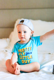 Tiny Tinies - Pretty Fly (Lagoon Blue Heather) - Onesie Pre Pack