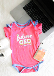 Tiny Tinies - Future CEO (Pink Heather) - Onesie Pre Pack