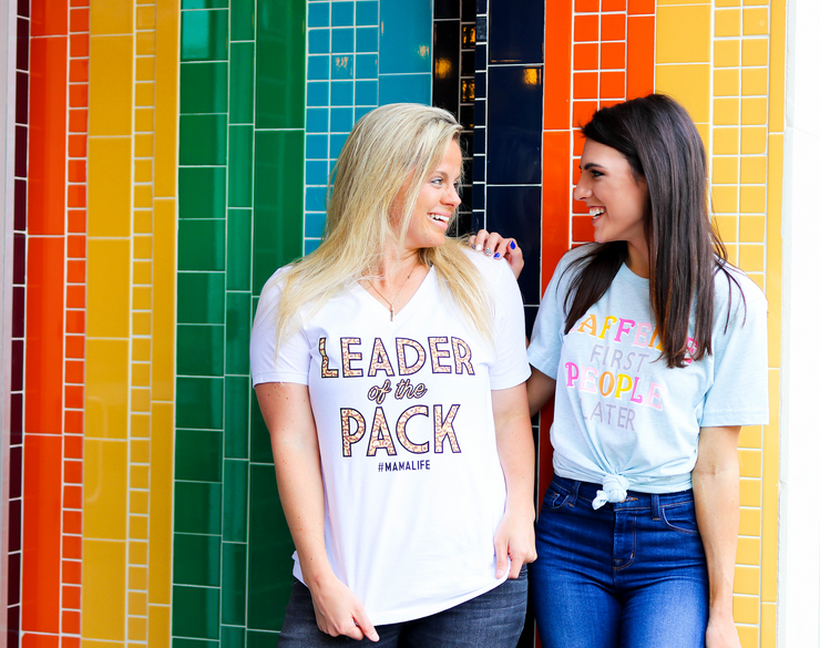 TSL - Leader Of The Pack (White) - Short Sleeve / V-Neck