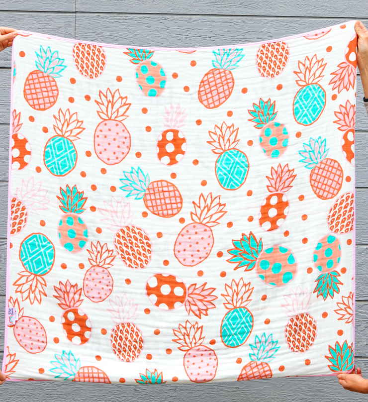 Blanket - Sun To My Shine (Coral/Mint) - 2 Pack