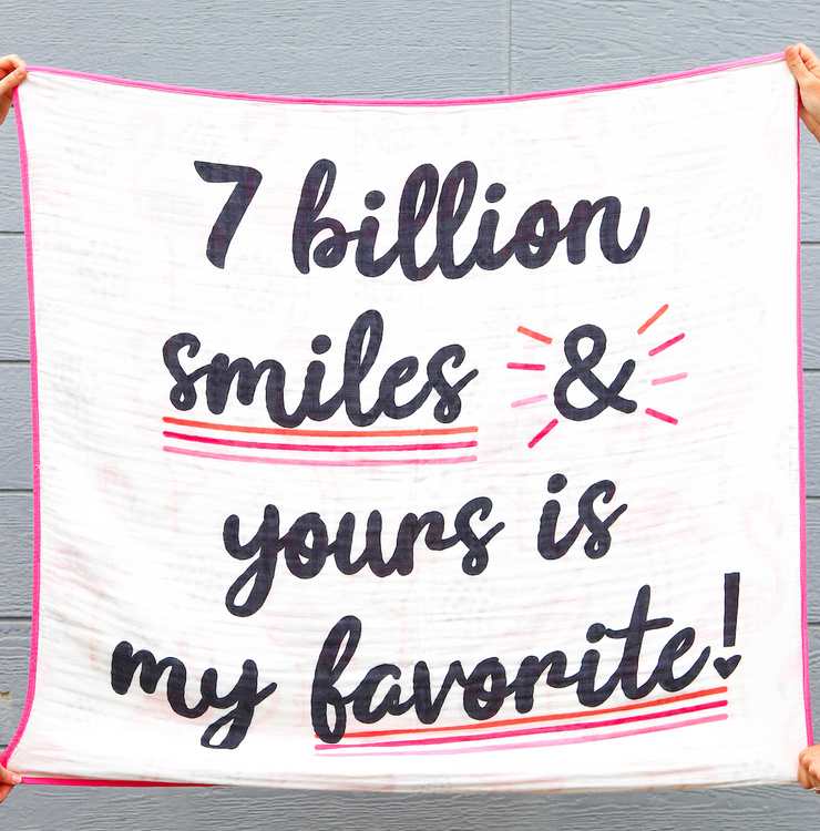 Blanket - 7 Billion Smiles (Pink/Black) - 2 Pack