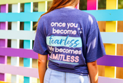 Once You Become Fearless (Navy Heather) - Short Sleeve / V-Neck