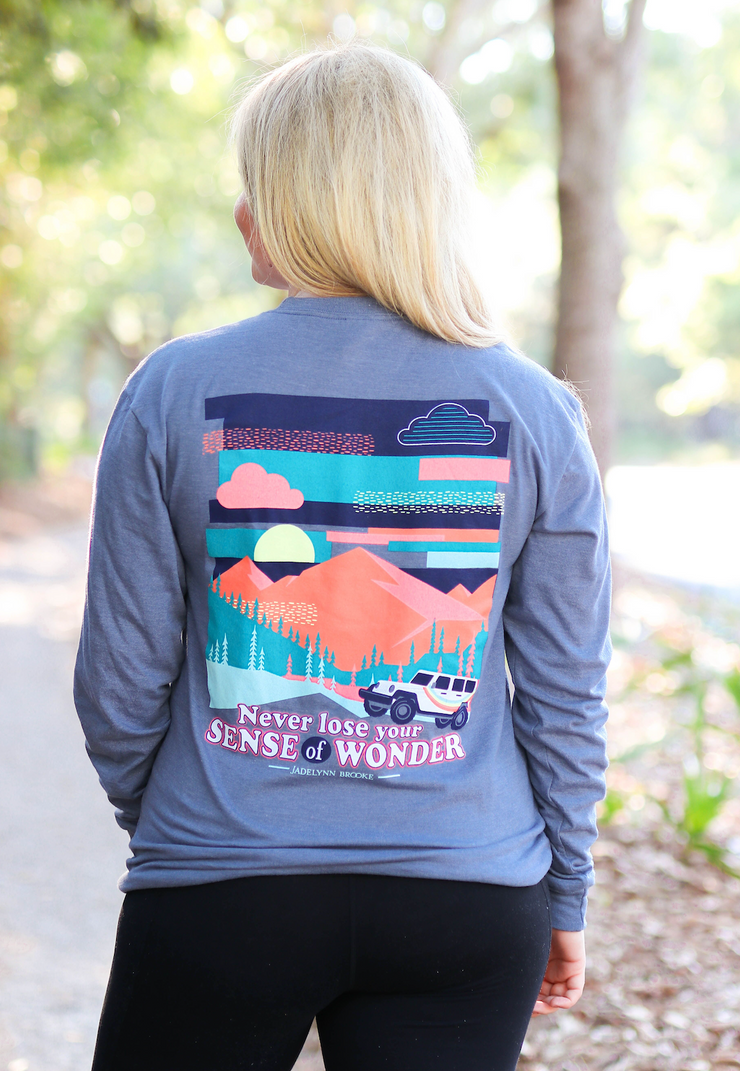 Sense Of Wonder (Blue Jean Heather) - Long Sleeve / Crew