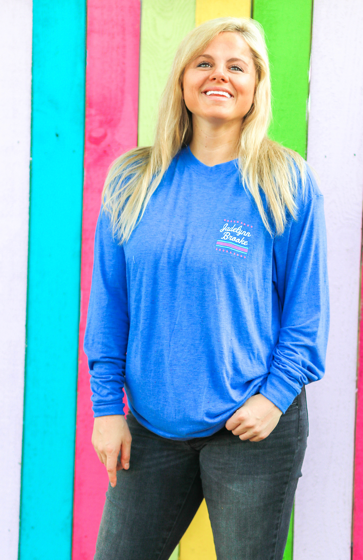 The Bravest Thing (Flo Blue Funfetti) - Long Sleeve / Crew