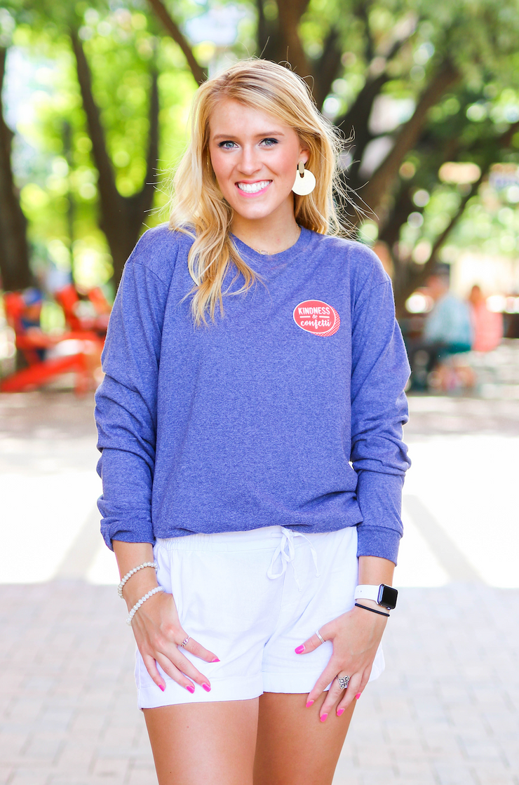This Tee Honors our Sheroes and Heroes (Denim Heather) - Long Sleeve / Crew