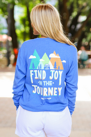 Find The Joy In The Journey (Royal Heather) - Long Sleeve / Crew