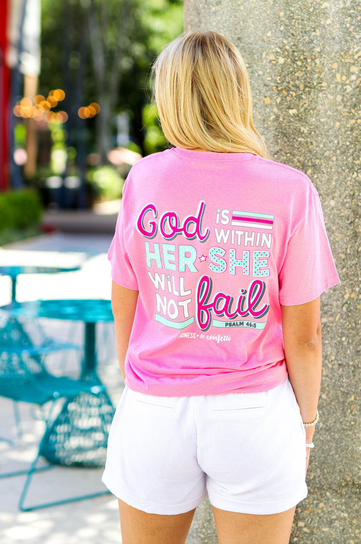 God Is Within Her - Neon Pink