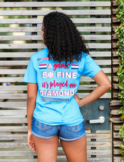 A Game So Fine It's Played On Diamonds - Sky Blue