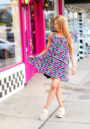 Cami Tie Dress - Confetti Cake (Black Multi)