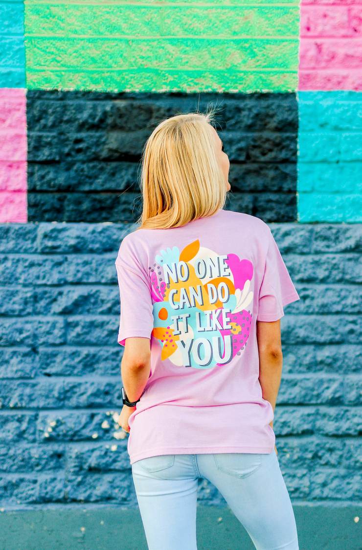 Do It Like You (Lilac Heather) - Short Sleeve / Crew