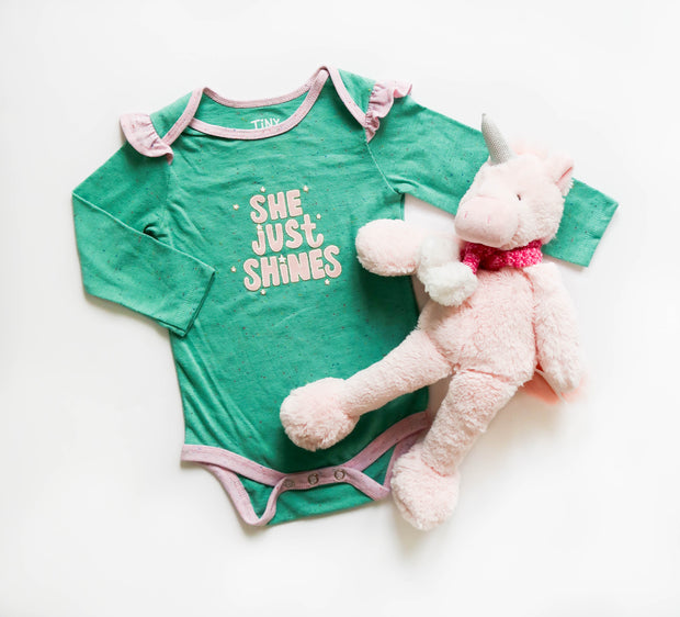She Just Shines (Chalky Mint Funfetti) - Onesie Pre Pack