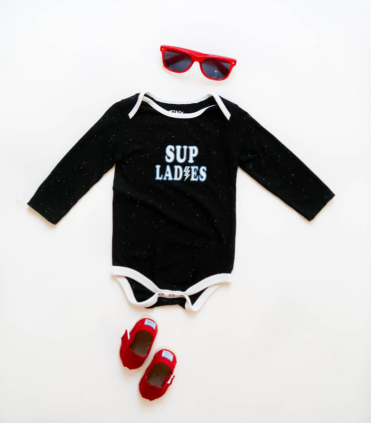 Sup Ladies (Black Fleck) - Onesie Pre Pack
