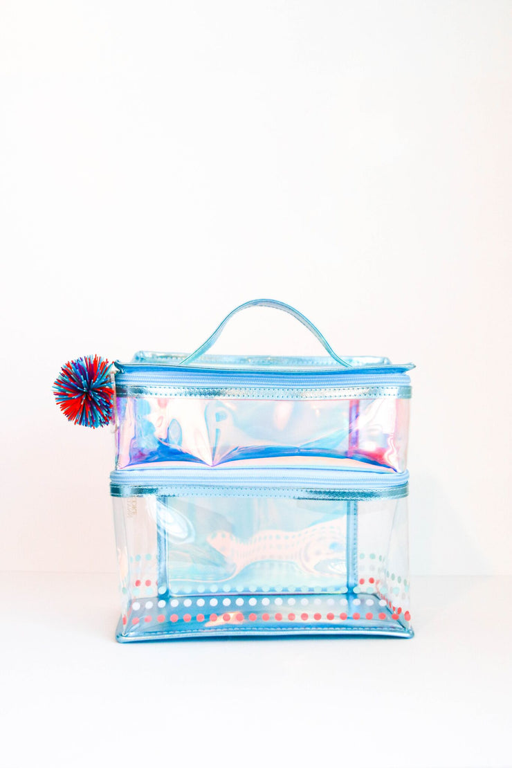 Lunch Box - Two Compartment (Blue Iridescent) - Packs of 4