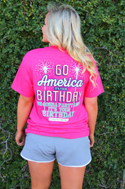 Go America It's Your Birthday (Heather Red) - Short Sleeve