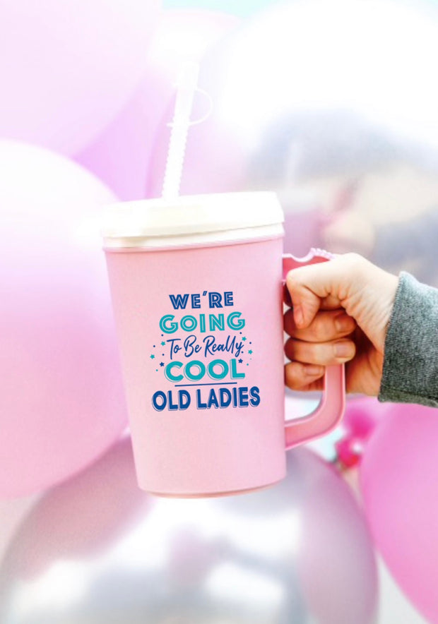 Thermo Jug - We're Going To Be Really Cool Old Ladies (Pink) - Packs of 6