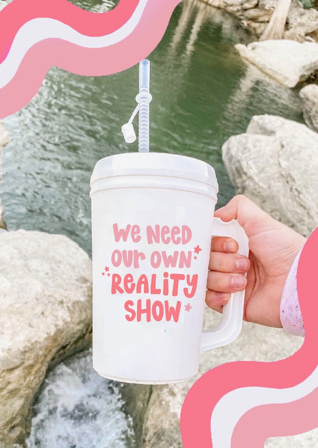 Thermo Jug - We Need Our Own Reality Show (White)- Packs of 6