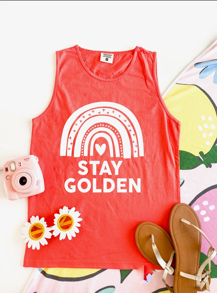 Stay Golden (Bright Salmon) - Tank