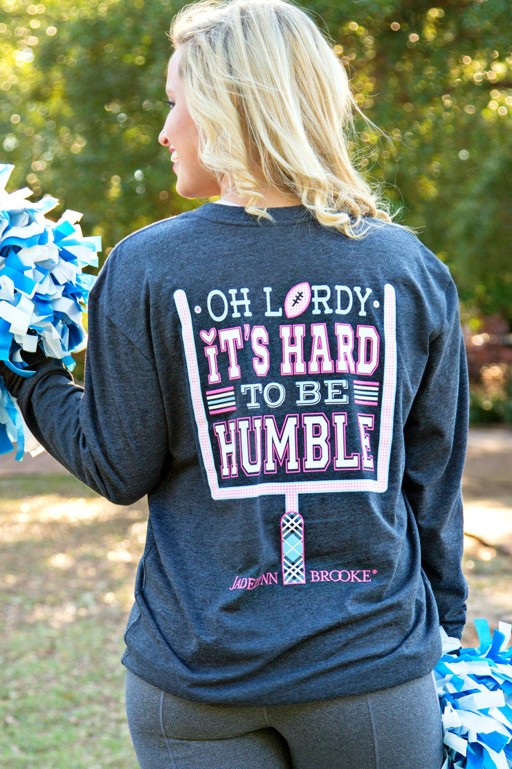 Oh Lordy It's Hard to be Humble (Black) - Long Sleeve - V-Neck