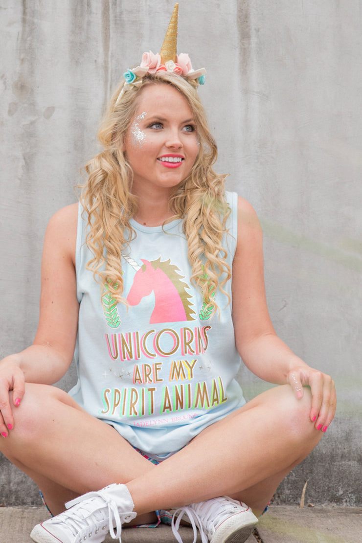 Unicorns Are My Spirit Animal (Baby Blue) - Tank
