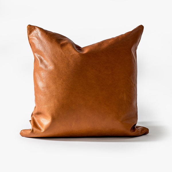 Umber Leather Cushion