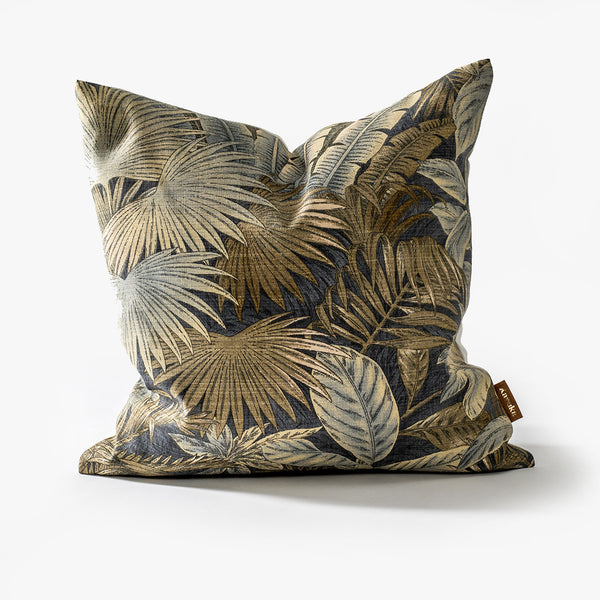 Midnight Palm Cushion