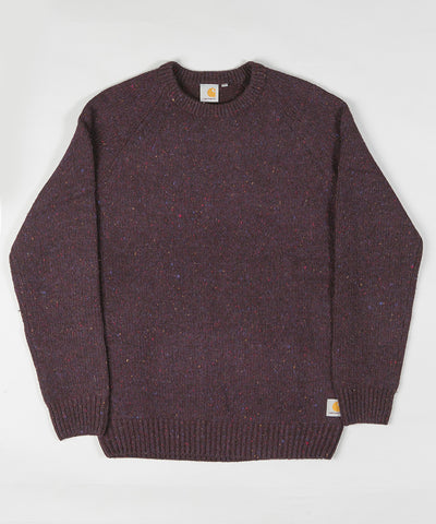 1f992cd7729fe Carhartt Anglistic Sweater Burnt Umber – TGD Responsive