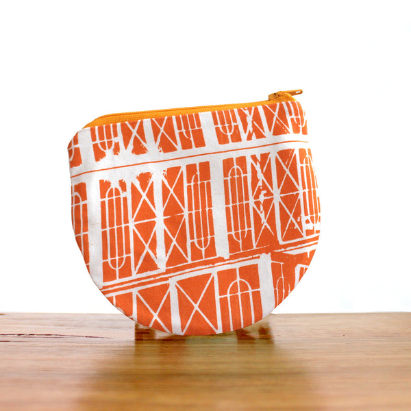 Half Moon Purse : Windows Orange