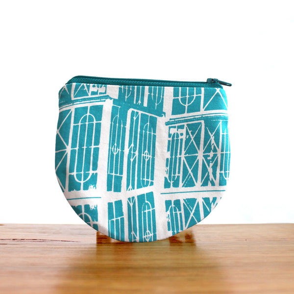Half Moon Purse : Windows Teal