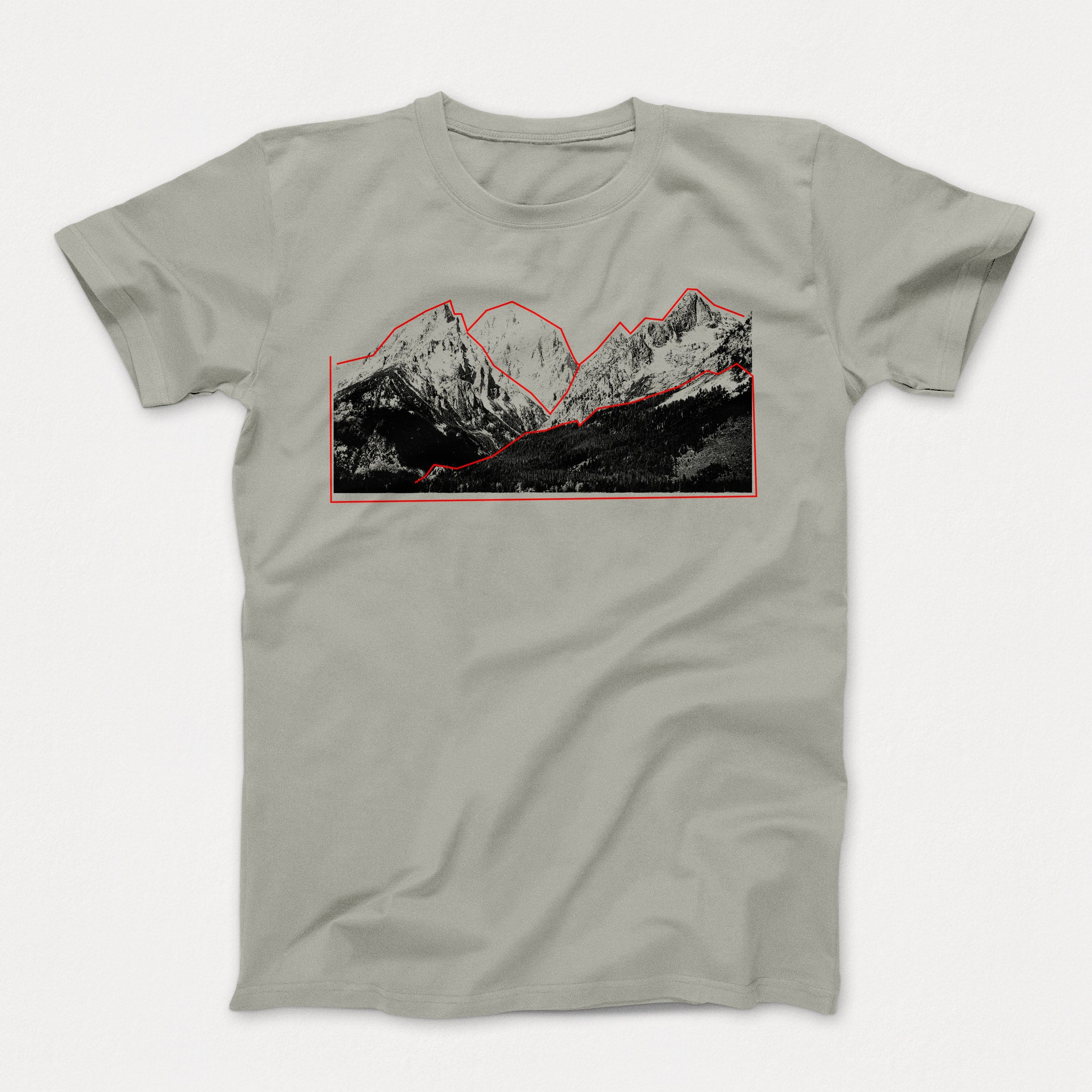 Mountain Tee light grey
