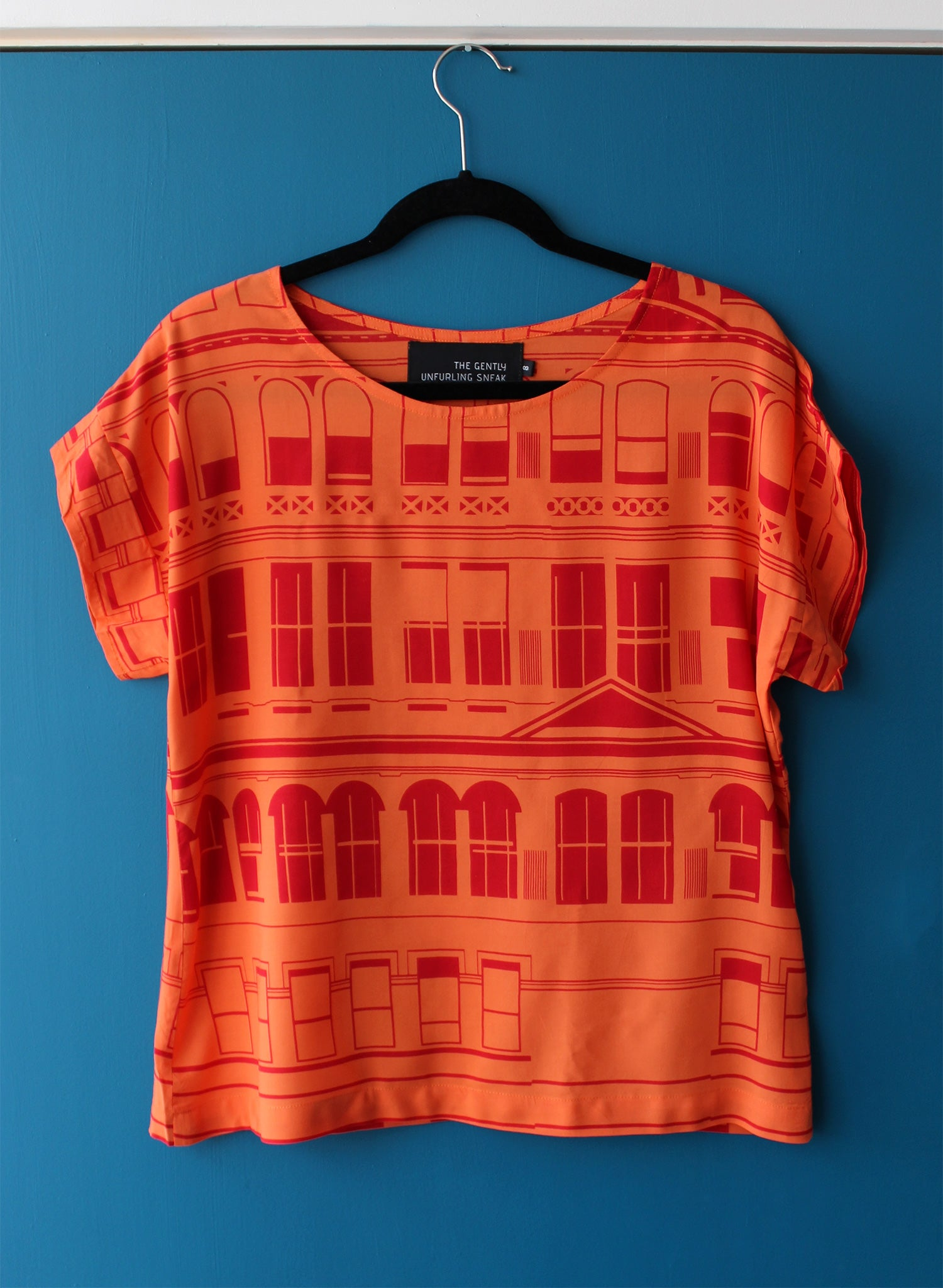 Royal Slouch Top : Citadel Orange