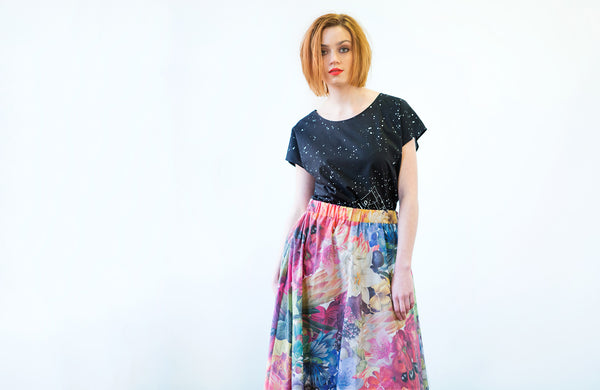 Leap Skirt : Flowers