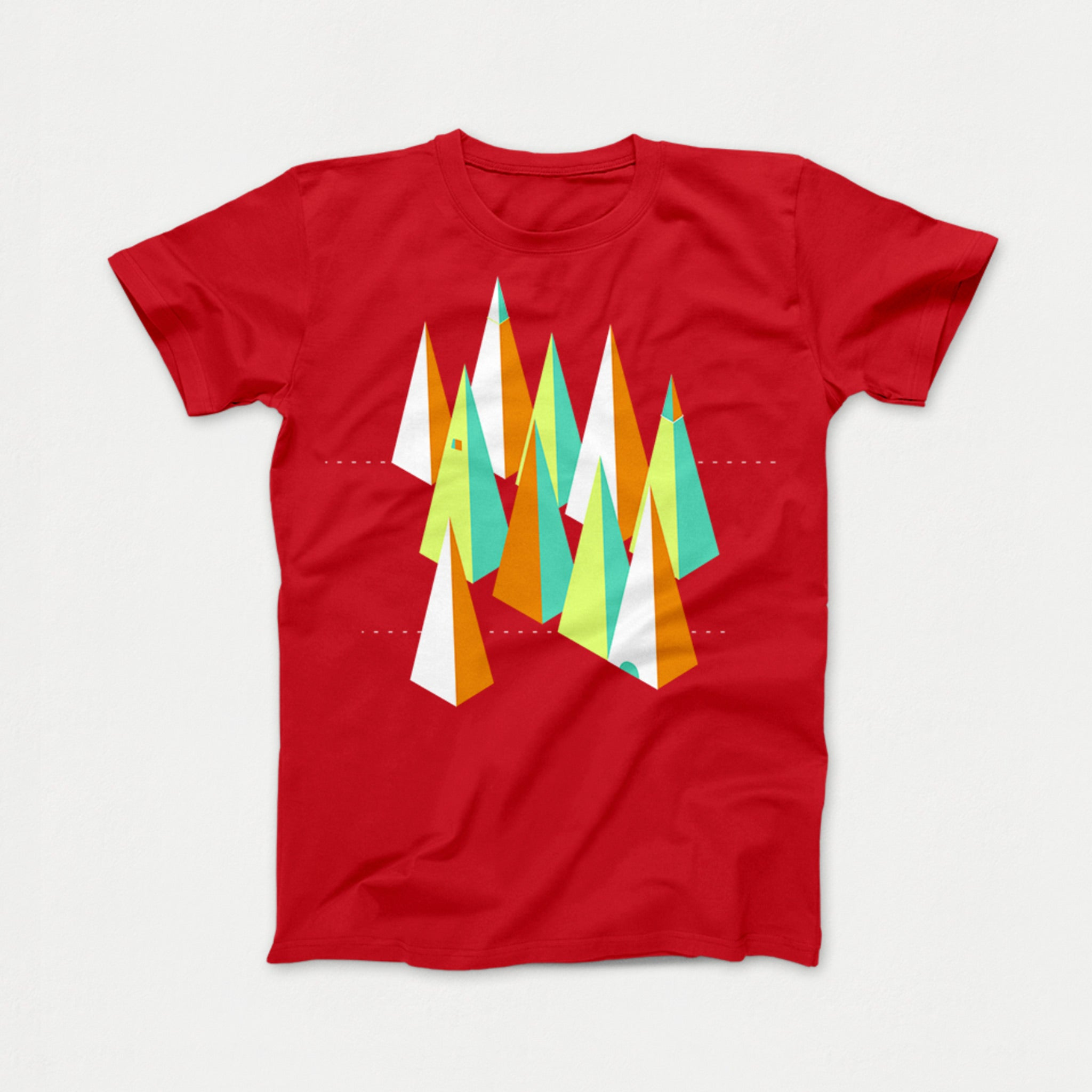 Spikes Tee red