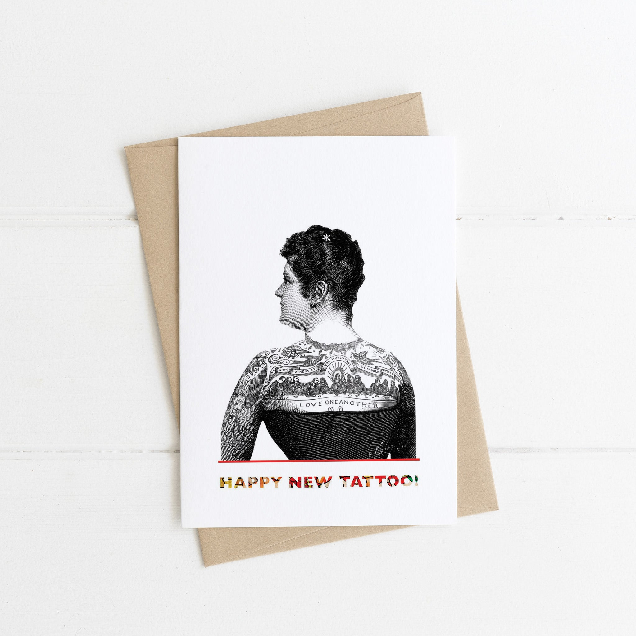 Tattoo Woman Card