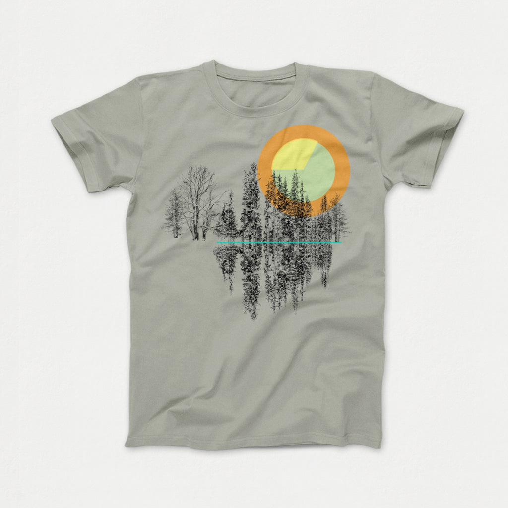 Trees Tee light grey