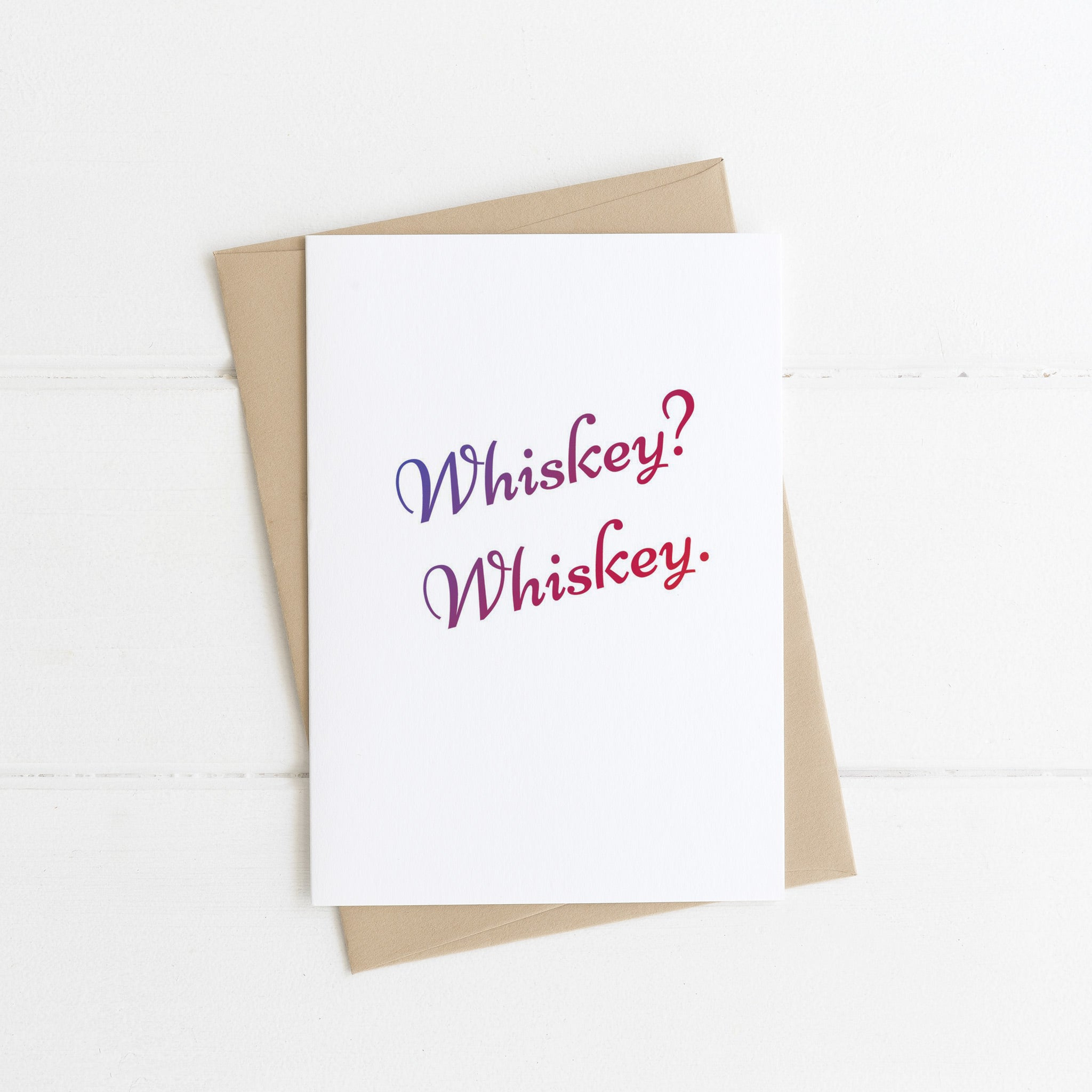 Whiskey Card