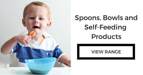Baby self feeding spoons and bowls