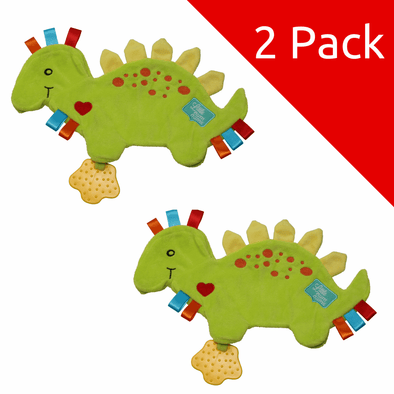 Spike the Dinosaur Taggie Comforter - 2 Pack